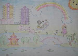 区教育局举行 我心目中的美好家园 学生书画大赛